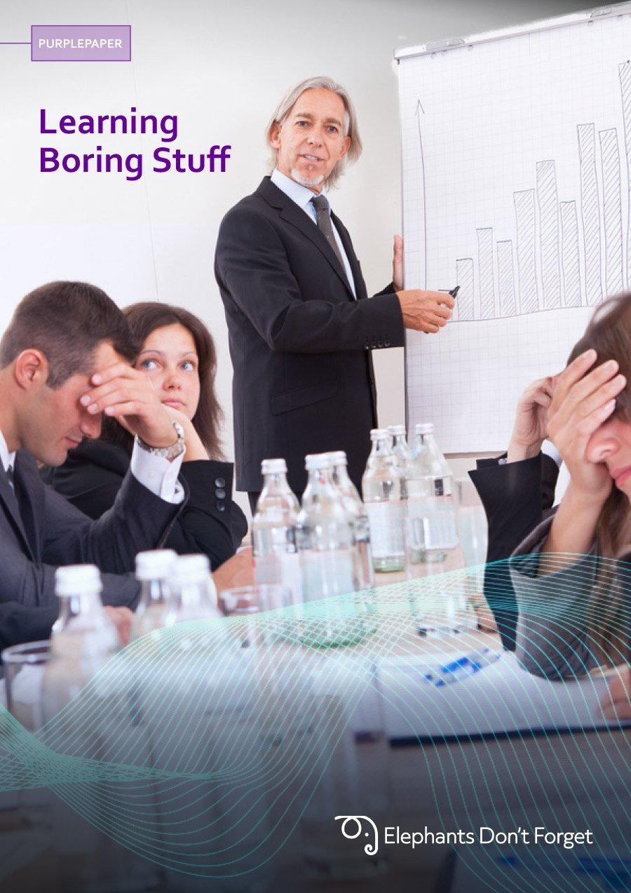 Learning the boring stuff